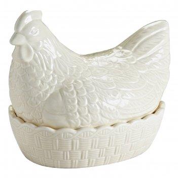 Подставка для яиц hen, кремовая