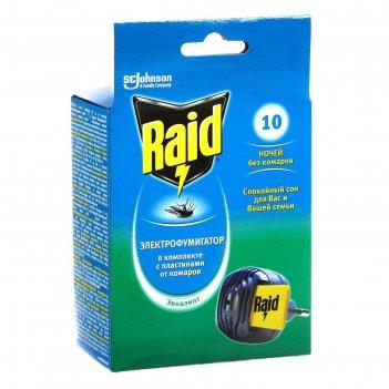 Raid фумигатор от комаров + 10 пластин