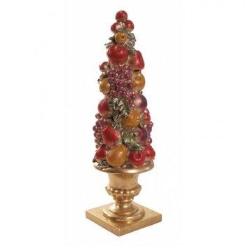 Декоративная фигурка ваза с фруктами, l16,7 w16,3 h52,7см