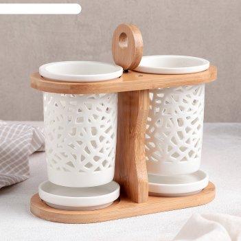 Набор подставок для столовых приборов эстет