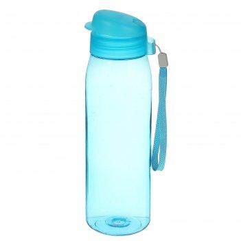 Спортивная бутылка 750мл, свежесть, индиго 7,5*23,5см
