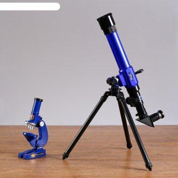 Телескоп настольный, голубой с черными вставками, 35 - 175 кратное увеличе