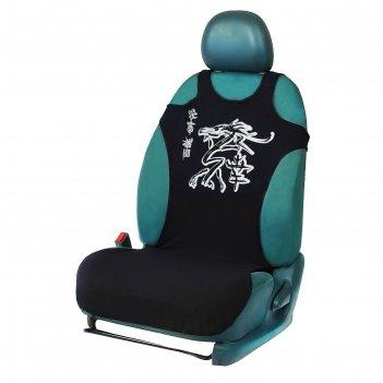 Чехол-майка иероглиф, на переднее сиденье, хлопок
