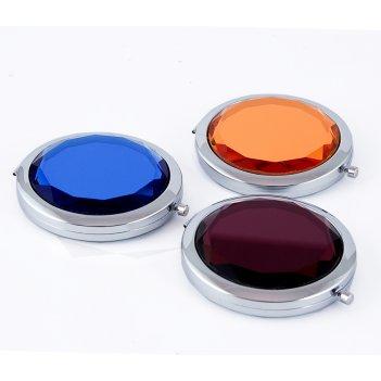 Зеркальце кристалл 7*7см в дисплее микс без выбора цвета