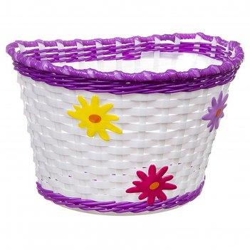 Корзина stg hl-bs01-10 детская, цвет бело-фиолетовый