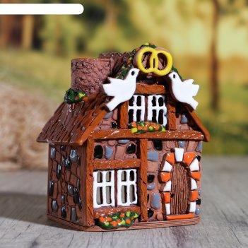 Аромалампа домик «голубки», ручная работа, микс