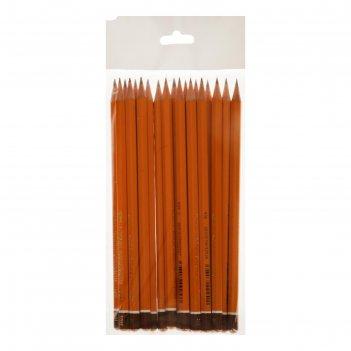 Набор карандашей ч/г разной твердости 20шт k-i-n 1500 нв, f, b8-h10, пакет
