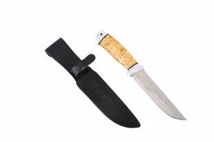 Нож добыча (сталь 95x18, карельская берёза/ал.)