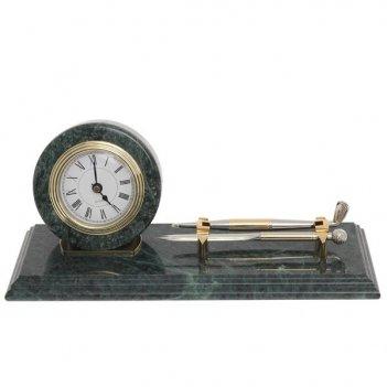 Настольный набор на мраморной подставке: композиция время,...