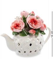 Cms-33/39 муз.композиция чайник с цветами (pavone)