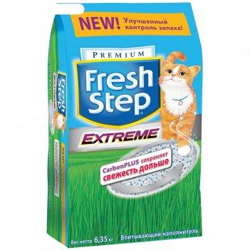 Наполнитель fresh step  тройной контроль запахов д/кошек 12 литров  (6,35