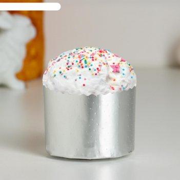 Форма бумажная для кекса, маффинов и кулича серебряная 60 х 45 мм