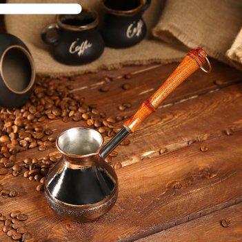 Турка  для кофе медная рис. микс 0,2 л