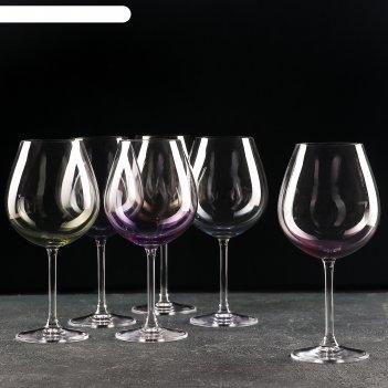 Набор бокалов для вина 650 мл colibri, 6 шт