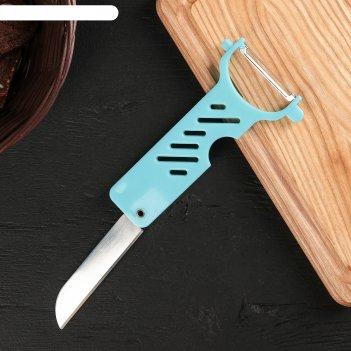 Нож для чистки овощей и фруктов 14x7 см дубло, цвет микс