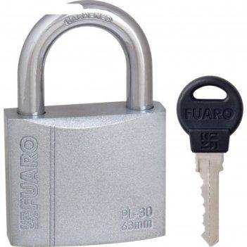 Замок навесной fuaro pl-3063, 63 мм, 3 английских ключа