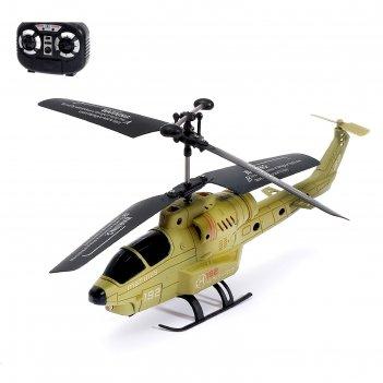 Вертолет радиоуправляемый «военный», световые эффекты, микс
