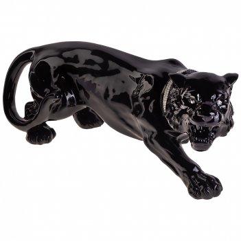 Декоративное изделие черная пантера крадущаяся 65*24 см. высота=27 см.