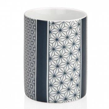 "Andrea house стакан для зубных щеток ""star"" керамика и хром"