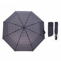 Зонт автоматический сетка, r=50см, цвет тёмно-серый
