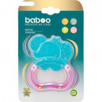 Погремушка baboo «слоник», 0 мес+