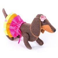 Набор для изготовления текстильной игрушки из фетра красотка пфзд-10