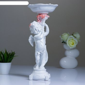 Конфетница ангел с розочками 50см