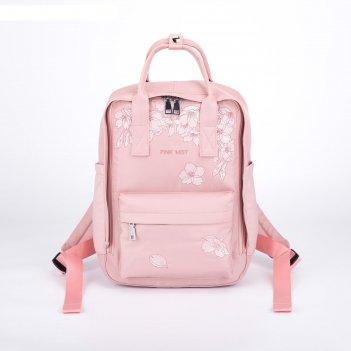 Рюкзак-сумка, отдел на молнии, 3 наружных кармана, цвет розовый