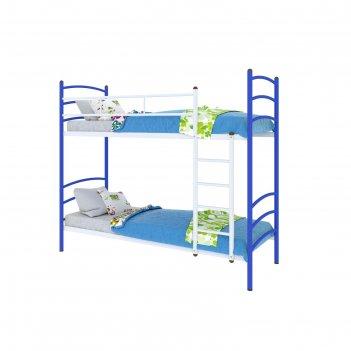 Кровать милана  дуо, 200x90 cм, каркас синий