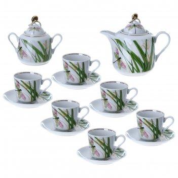 Сервиз чайный стрекоза, 14 предметов