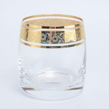 Набор стаканов для виски bohemia идеал золото v-d 230 мл(6 шт)