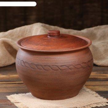 Горшок для запекания,2.5л. красная глина