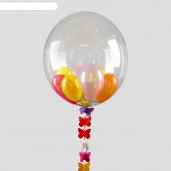 Набор воздушный (состав: шар 18, 20 шаров 3, лента, гирлянда)
