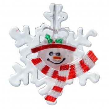 Игрушка световая снежинка от снеговика (батарейки в комплекте) 1 led, rgb