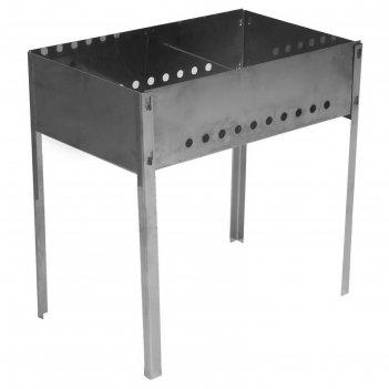 Мангал, размер 500х300х500, толщина 0,8 мм, без шампуров, в коробке