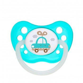 Пустышка силиконовая canpol babies toys, ортодонтическая, от 0-6 месяцев,