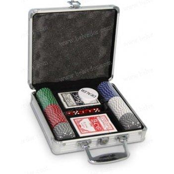 Набор для игры в покер на 100 фишек suites