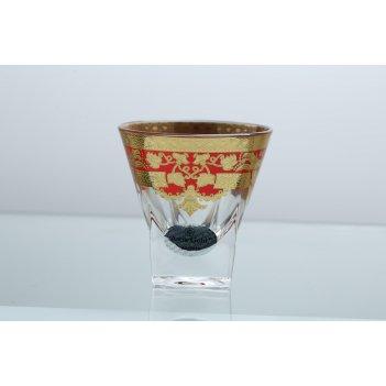 Набор стопок для водки 60 мл natalia golden red decor astra gold (6 шт)