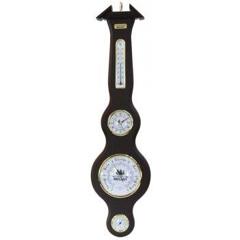 Часы-метеостанция brigant: барометр, термометр, гигрометр 20*77см