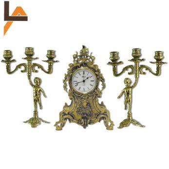Набор средневековье, часы с канделябрами