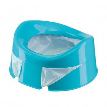 Mini potty дорожный горшок с набором сменных пакетов возраст: от 1.5 лет