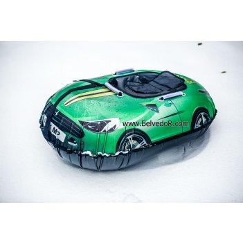 Ватрушка надувная snow car (вытянутая) зеленая феррари a001mp