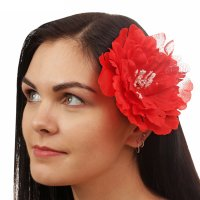 Гавайский зажим хризантема, цвет красный