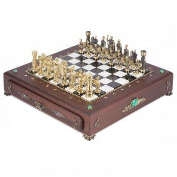 Шахматный ларец фигуры римские 420х420х90 мм 17 кг