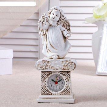 Часы настольные ангел с фонариком, h=25 см
