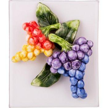 Панно настенное виноград 16*13,5*5 см (кор=1шт.)