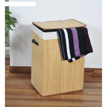 Короб плетёный kesper, с крышкой, дерево, 42х32х60 см