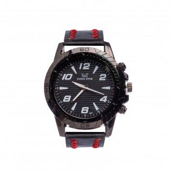 Часы наручные мужские seek time d=4.4 см, микс