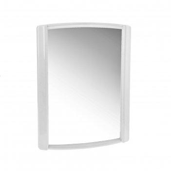 Зеркало бордо, снежно-белое