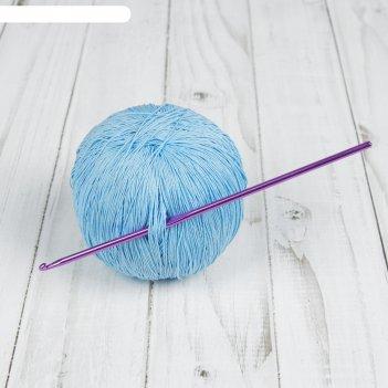 Крючок для вязания, d = 3 мм, 15 см, цвет микс